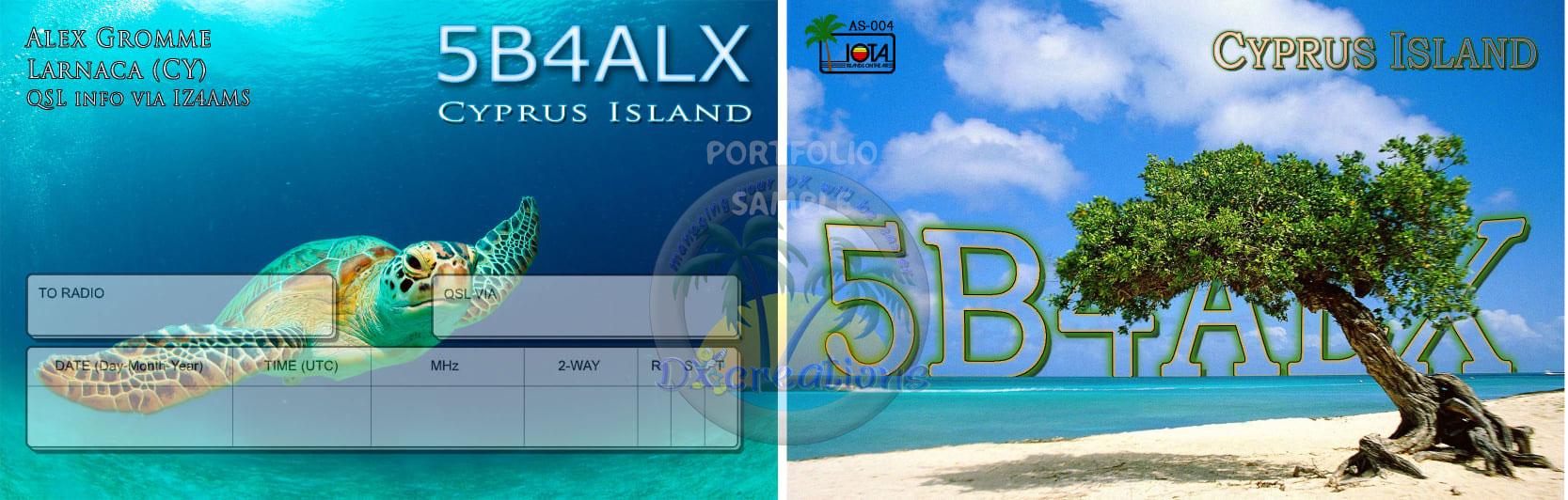 5B4ALX QSL