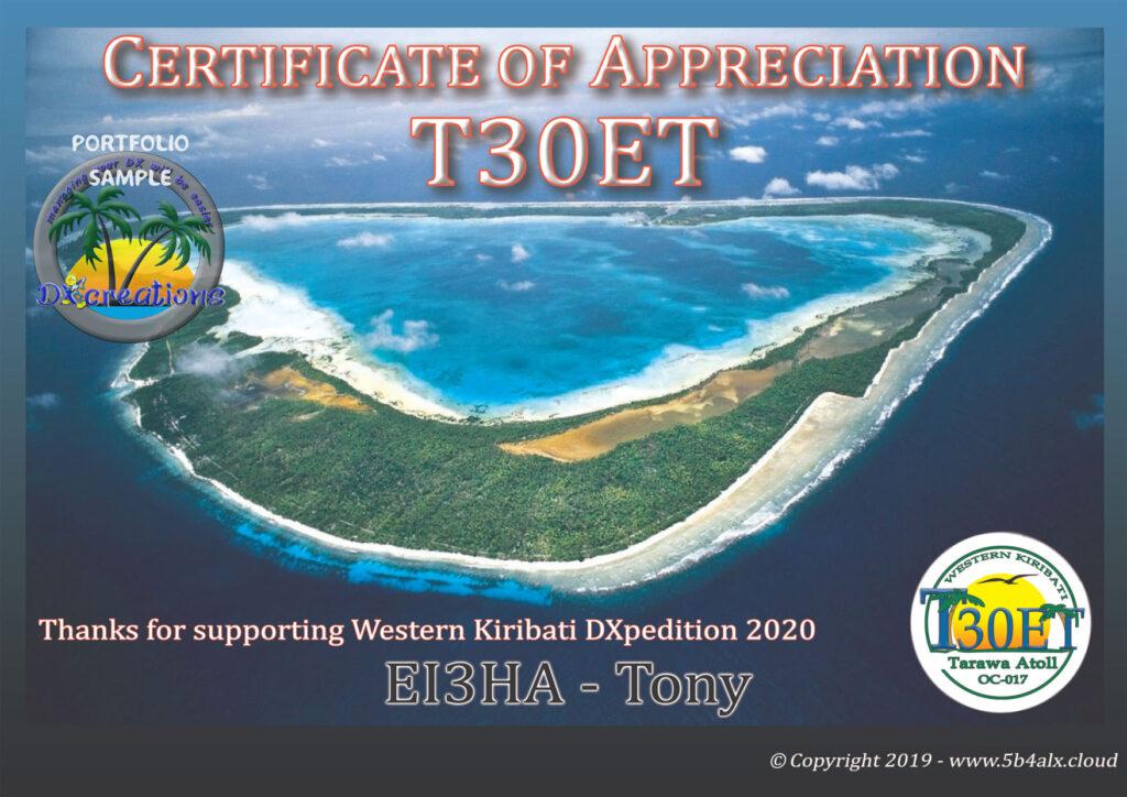 T30ET Certificate