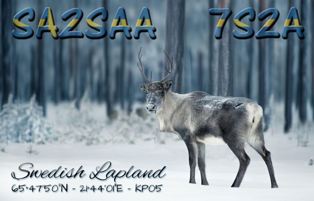 SA2SAA / 7S2A - Final QSL design (front)